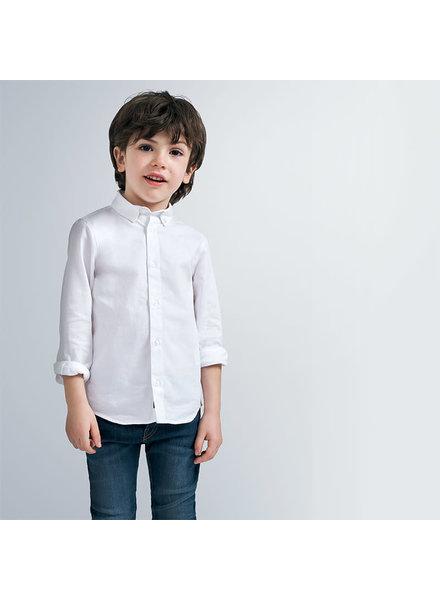 Mayoral Basic L/S Shirt  {White}