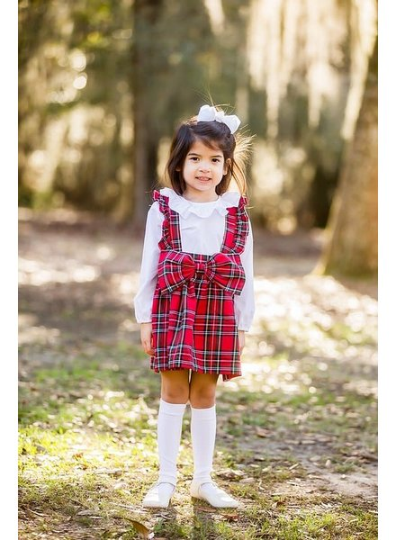 Prim & Proper Plaid Bow Jumper  {Christmas Plaid} F20