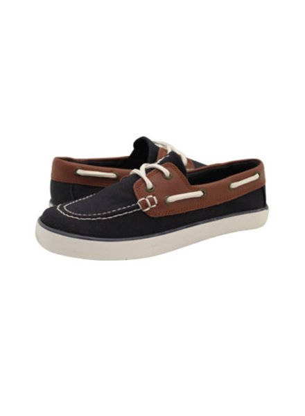 Ralph Lauren Sander-CL {Navy Canvas/Tan Leather}