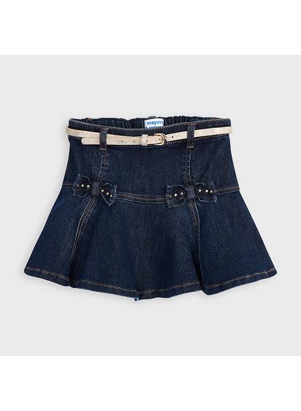 Mayoral 4956 Denim Skirt w/ Gold Belt F20
