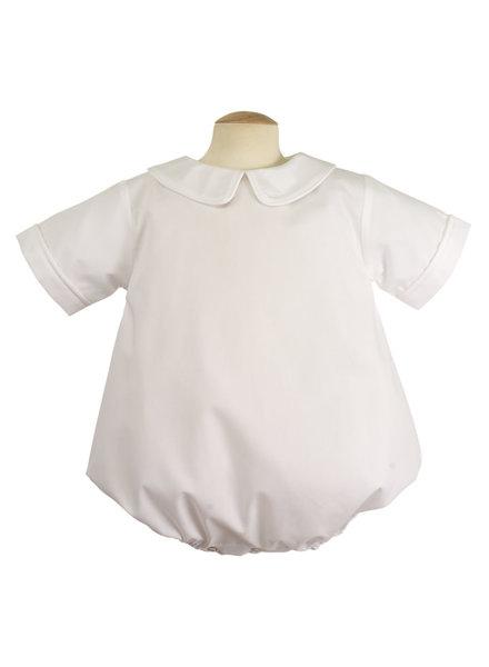 Piped Short Sleeve Onesie {White}