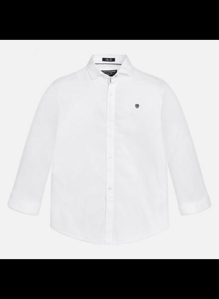 Mayoral 874 Basic L/S Shirt {White}
