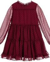 Mayoral Chiffon Dress {Burgundy}