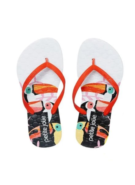 Petite Jolie Recolor Lima Kids  Sandals {Orange/Toucon}