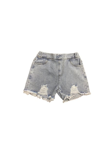 M.L. Kids Denim Distressed Shorts