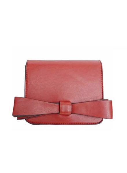 Popatu Red Double Bow Handbag