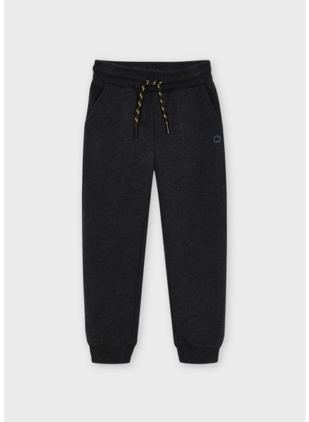 Mayoral Basic Cuffed Fleece Trousers {Graphite}