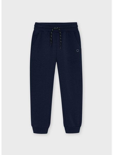 Mayoral Basic Cuffed Fleece Trousers {Navy}