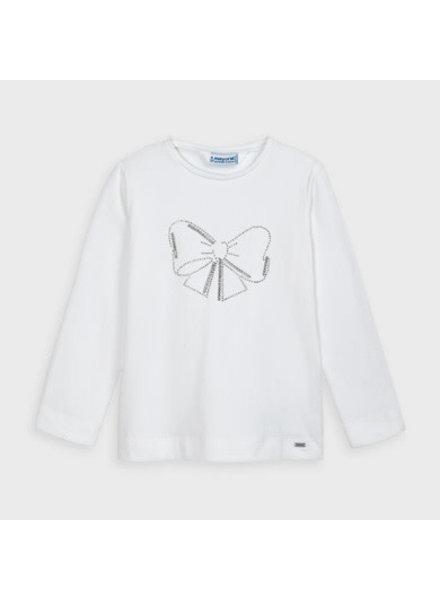 Mayoral L/S Basic T-Shirt {White/Diamonds}