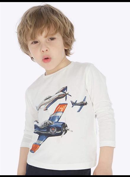 Mayoral Airplane L/S T-Shirt {Cream}