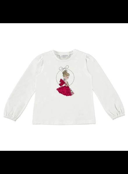 Mayoral Ballerina T-Shirt {Natural/Red}