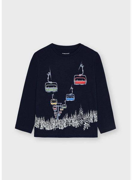 Mayoral Skylift Glow in the Dark T-Shirt {Blue Black}