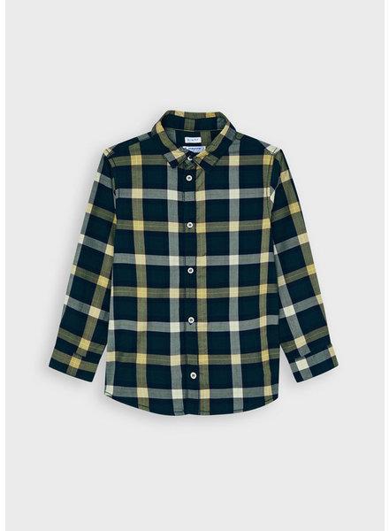 Mayoral Small Plaid Shirt {Navy}