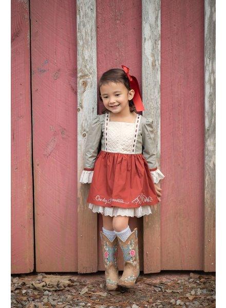 Evie's Closet Maroon Mountains Dress
