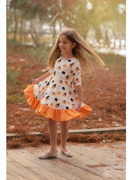 Evie's Closet Fall Cafe/Halloween Reversible Dress