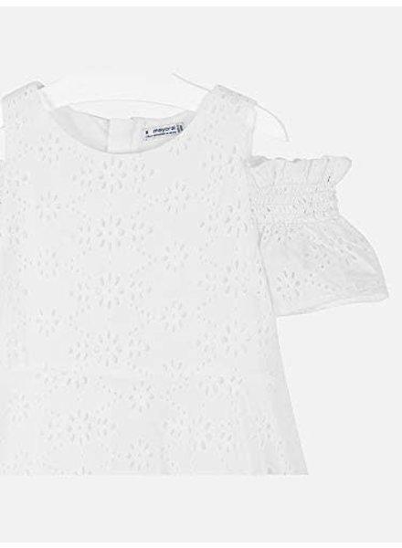 Mayoral Eyelet Dress {White}