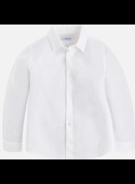 Mayoral Basic Linen L/S Shirt {White}