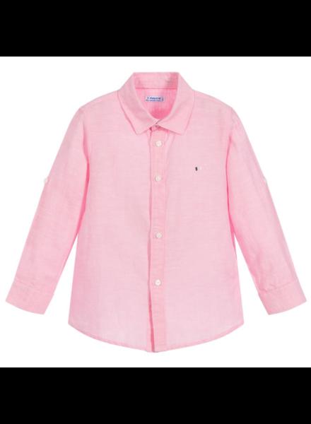Mayoral Basic Linen L/S Shirt {Pink}