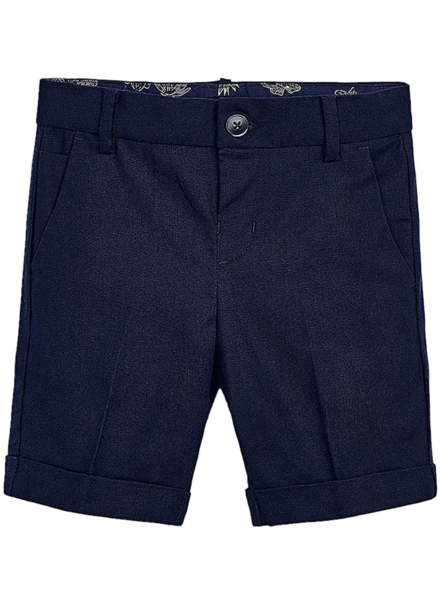 Mayoral Tailored Linen Shorts {Navy}