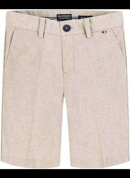 Mayoral Linen Shorts {Khaki}
