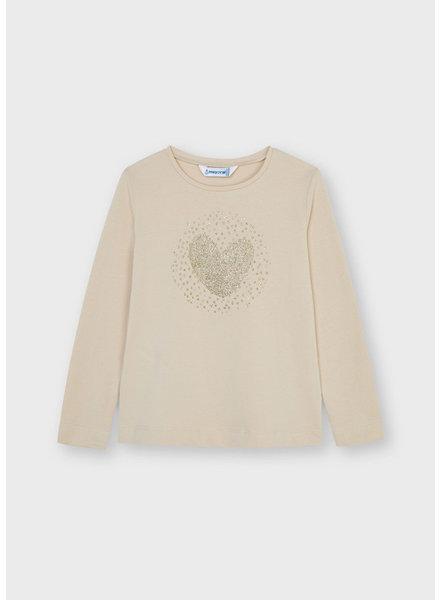 Mayoral Always Love L/S T-Shirt {Almond}