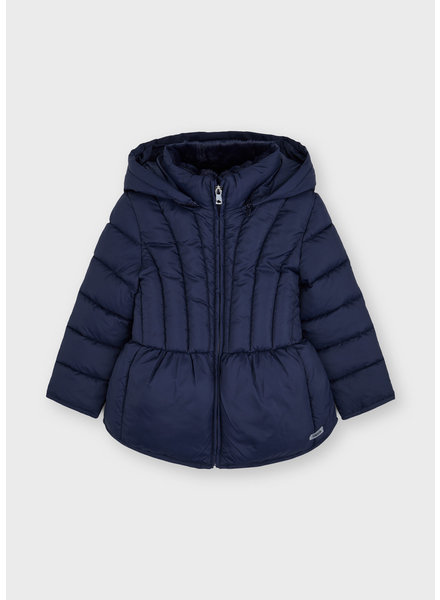 Mayoral Quilted School Jacket {Navy}