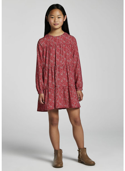 Mayoral Printed Dress {Red}