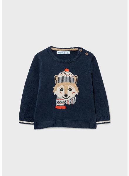 Mayoral Fox Sweater {Navy}