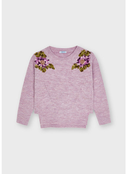Mayoral Floral Sweater {Lilac}