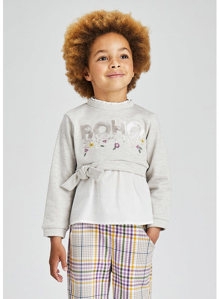 Mayoral Boho Sweatshirt {Gray}