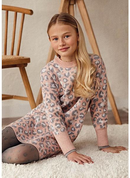 Mayoral Leopard Print Dress {Rose}
