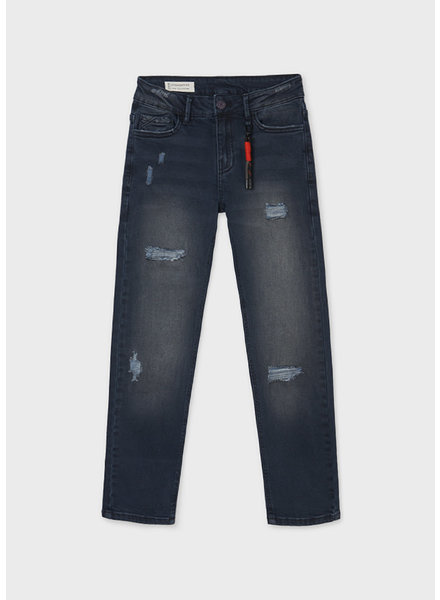 Mayoral Distressed Denim Jeans {Black}