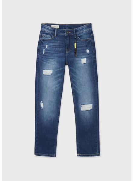Mayoral Distressed Denim Jeans {Blue}
