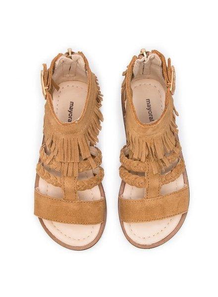 Mayoral Leather Sandals {Camel} 10.5/28