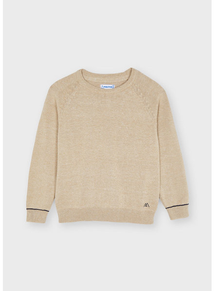 Mayoral Cotton Sweater {Sand}