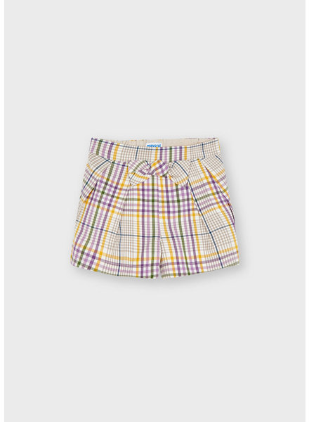 Mayoral Plaid Shorts {Lilac}