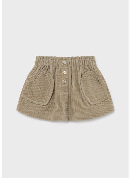 Mayoral Corduroy Skirt {Sand}