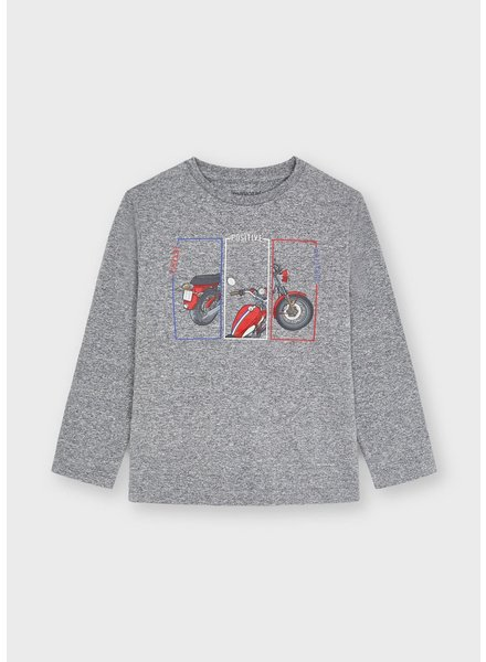 Mayoral 'Positive' Motorcycle L/S T-Shirt {Gray}