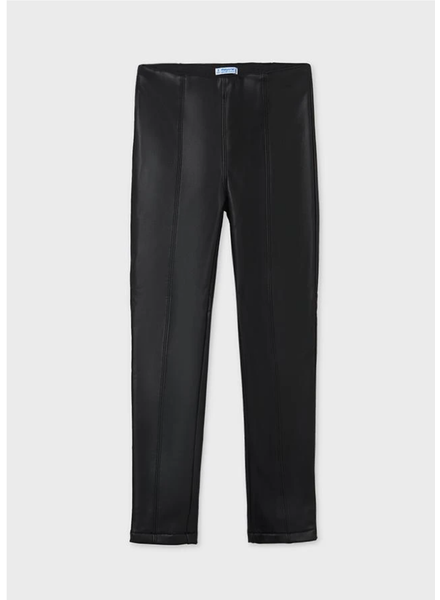 Mayoral Faux Leather Leggings Tween {Black}