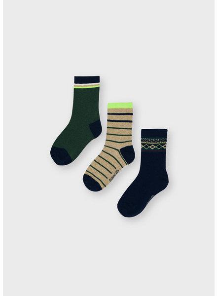 Mayoral 3 Pack Socks Set {Kale}