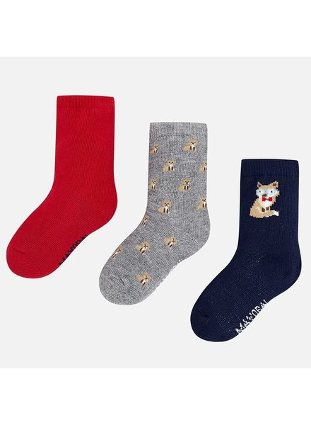 Mayoral Fox Multi 3 Pack Socks {2 Color Options}