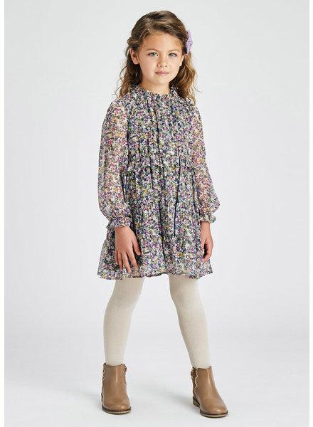 Mayoral Floral Dress {Lilac}