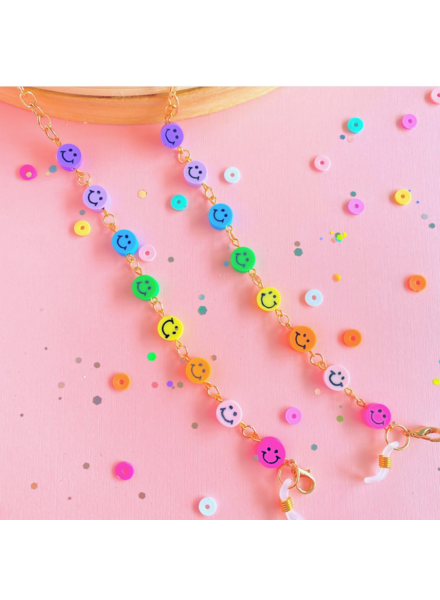 Tiny Sugar Company Be Happy Mask/Glasses Chain