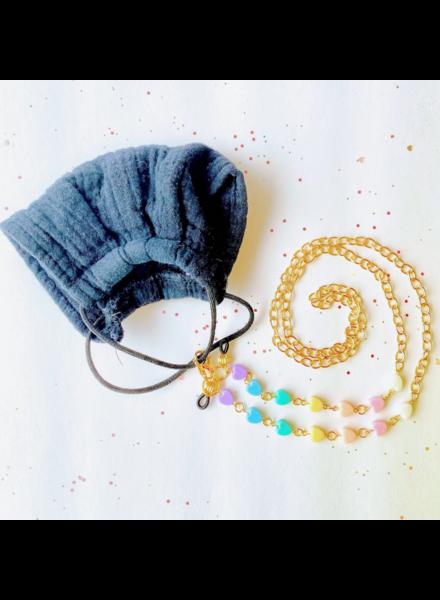 Tiny Sugar Company Rainbow Heart Mask/Glasses Chain