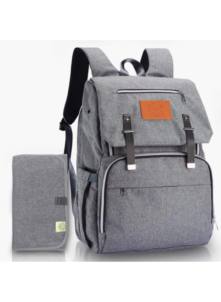 KeaBabies Explorer Diaper Backpack {Classic Gray}