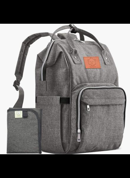 KeaBabies Original Diaper Backpack {Classic Gray}
