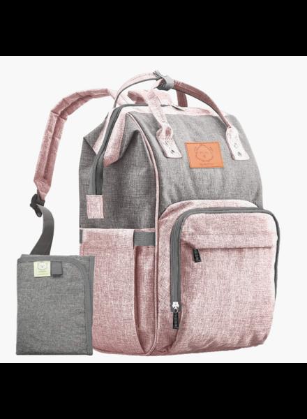 KeaBabies Original Diaper Backpack {Pink/Gray}
