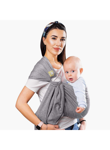 KeaBabies Baby Ring Sling & Wrap Carrier {Classic Gray}
