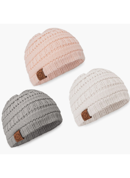 KeaBabies Baby Girl Knitted Beanie {3 Color Options}