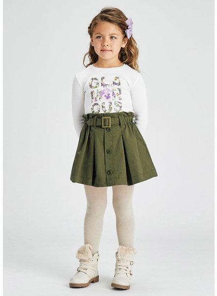 Mayoral Paper Bag Skirt {Olive}